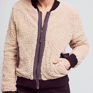 Anthropology Marrakech Sherpa zip jacket size XS